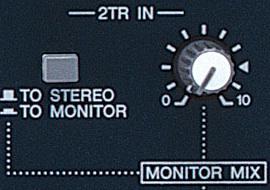 """El parámetro """"2 tracks in"""" permite conectar, via RCA, un reproductor de CD o cualquier otra fuente de linea."""