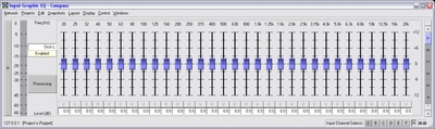 Un plugin de EQ gráfico de 1/3 de octava con un rango de frecuencias de 20Hz a 20kHz
